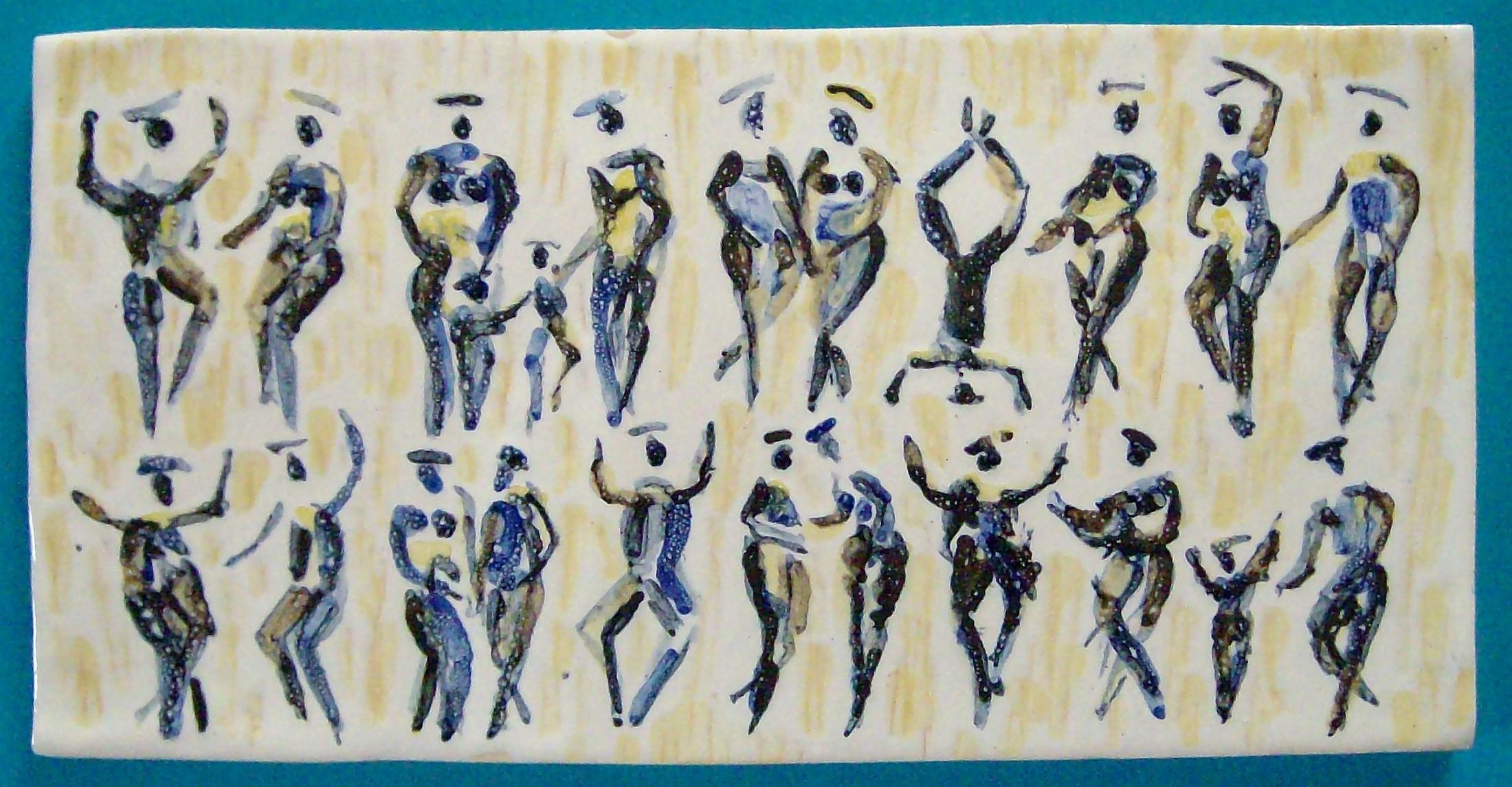 Figurenfries, 14 x 28 cm, Keramik, 1999