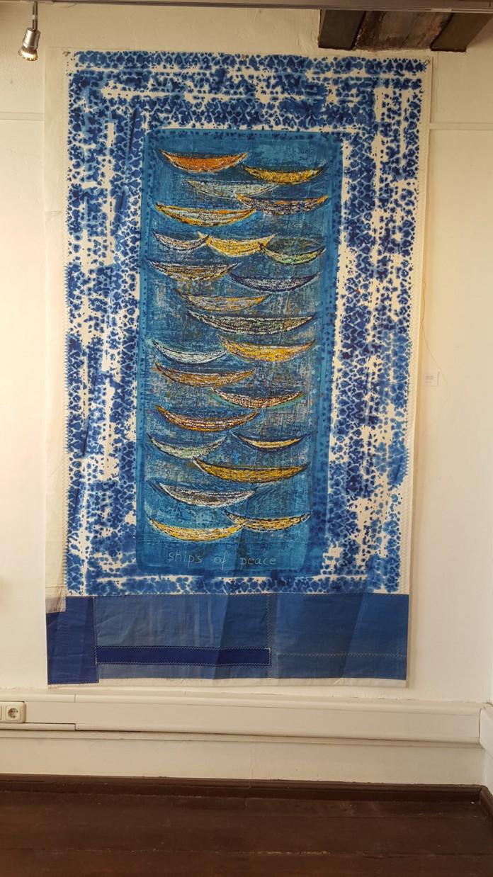 Ships of Peace - 134 x 227 cm, Acryl auf Segel, 2015