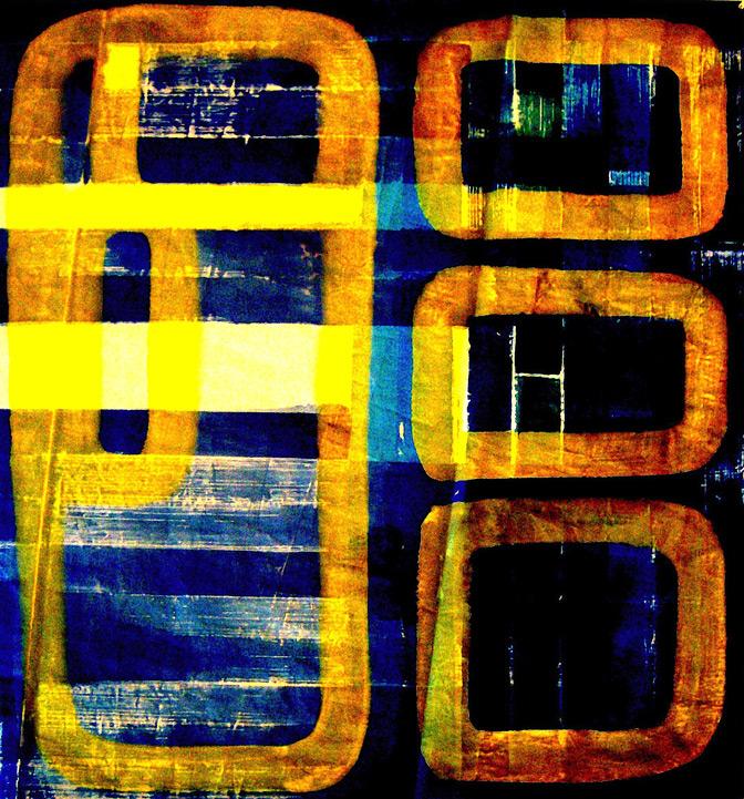 Maya News, Acryl auf Segel, 2012