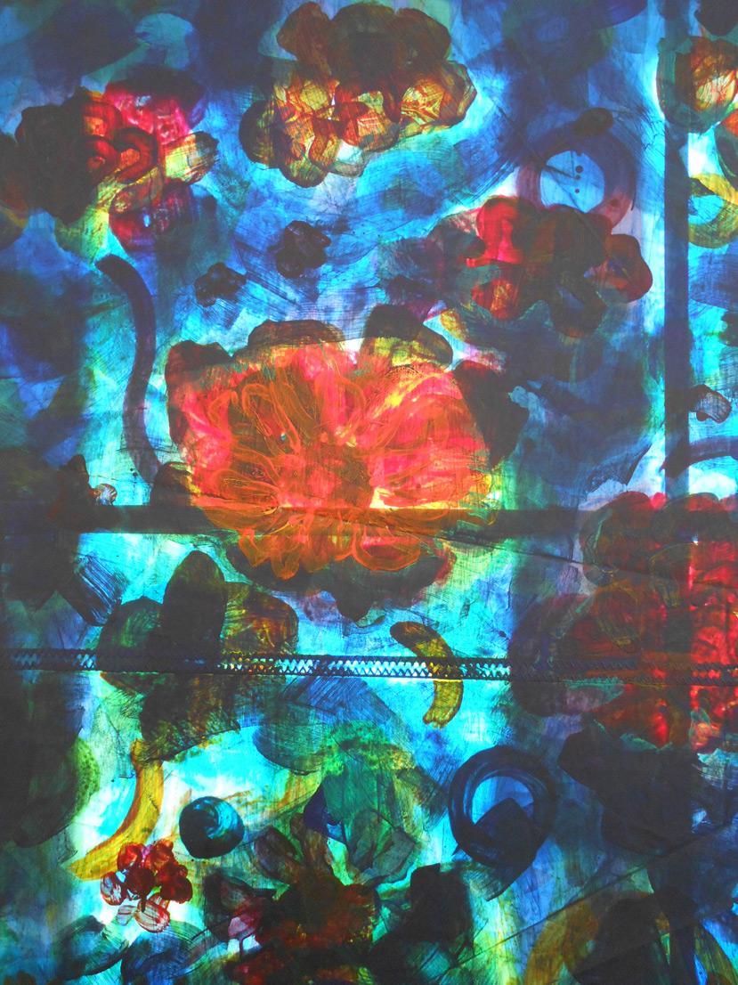 Detail I Garten, Acryl auf Segel, 2015