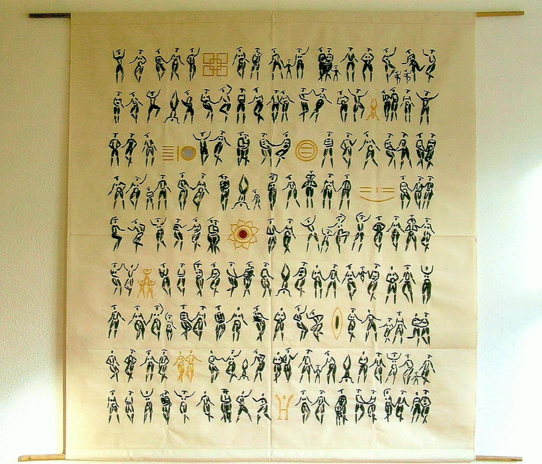 Lebensmuster , Auftragsbild, 200 x 200 cm, Acryl auf Rohlenwand, 2007