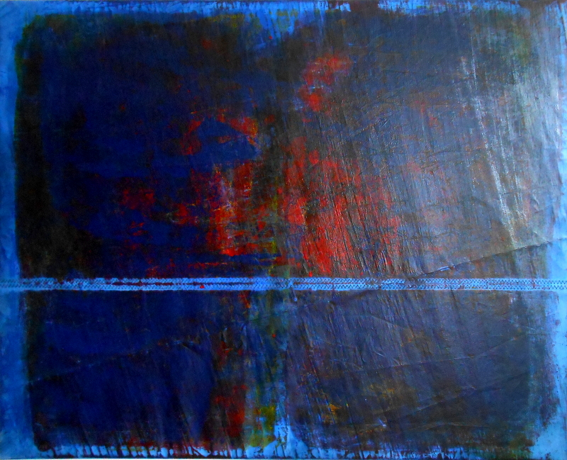 Big Blue One - 104 x 130 cm, 2015