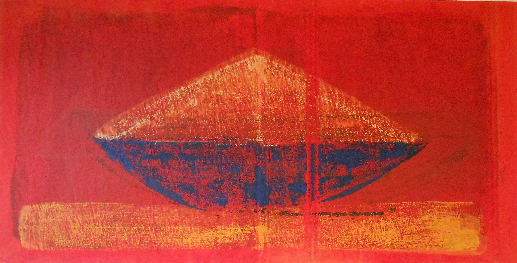 VERKAUFT - Schiff im Traum - 69 x 135 cm, 2015, 1.800,- €