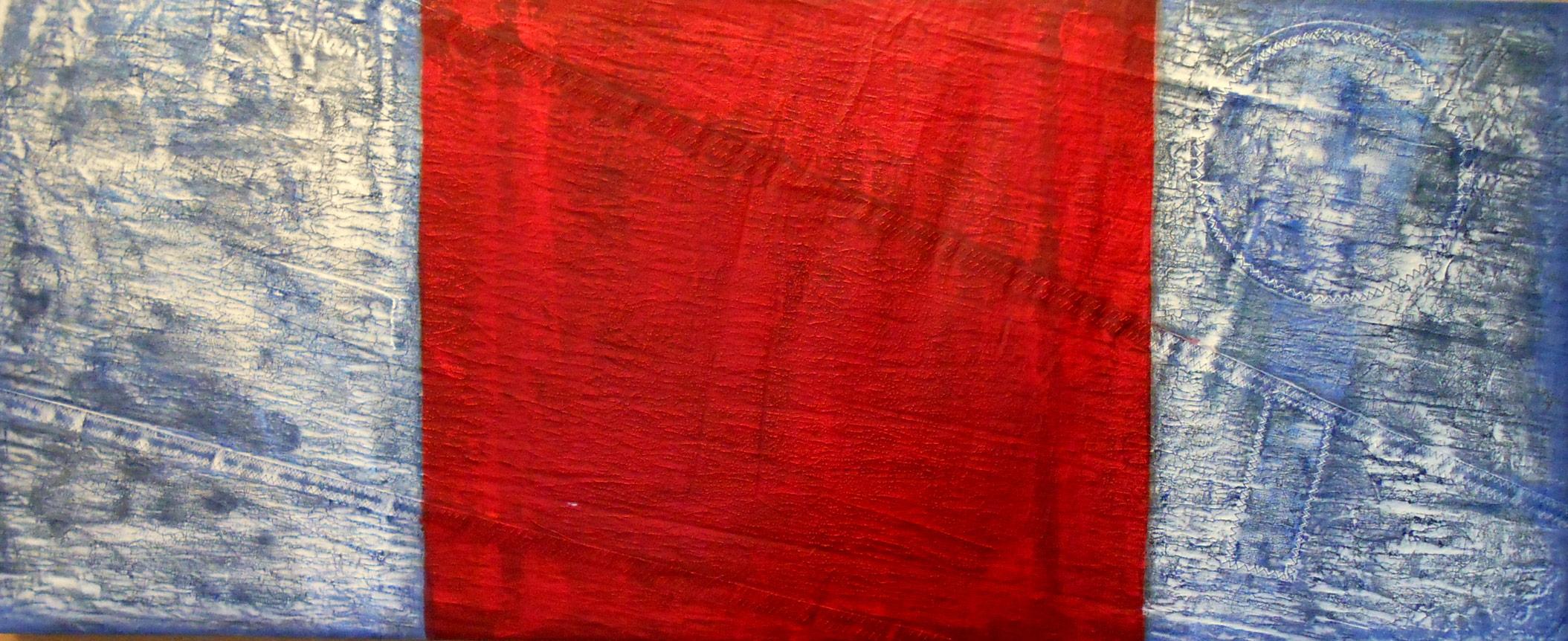 Signal - 70 x 140 cm, Acryl auf Segel, 2015, 2.200,- €