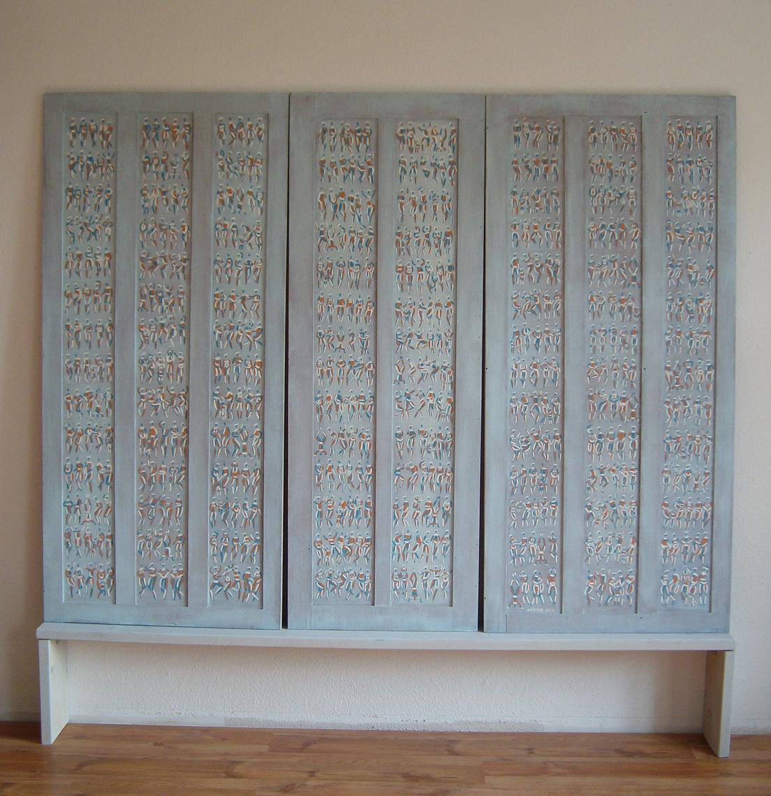 VERKAUFT - Triptychon Tibet, 171x219cm, Öl auf Holz, 1997-2012